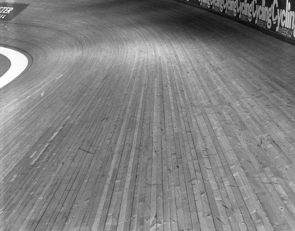manchester velodrome track shot on black and white delta100 film by Matt Ben Ston