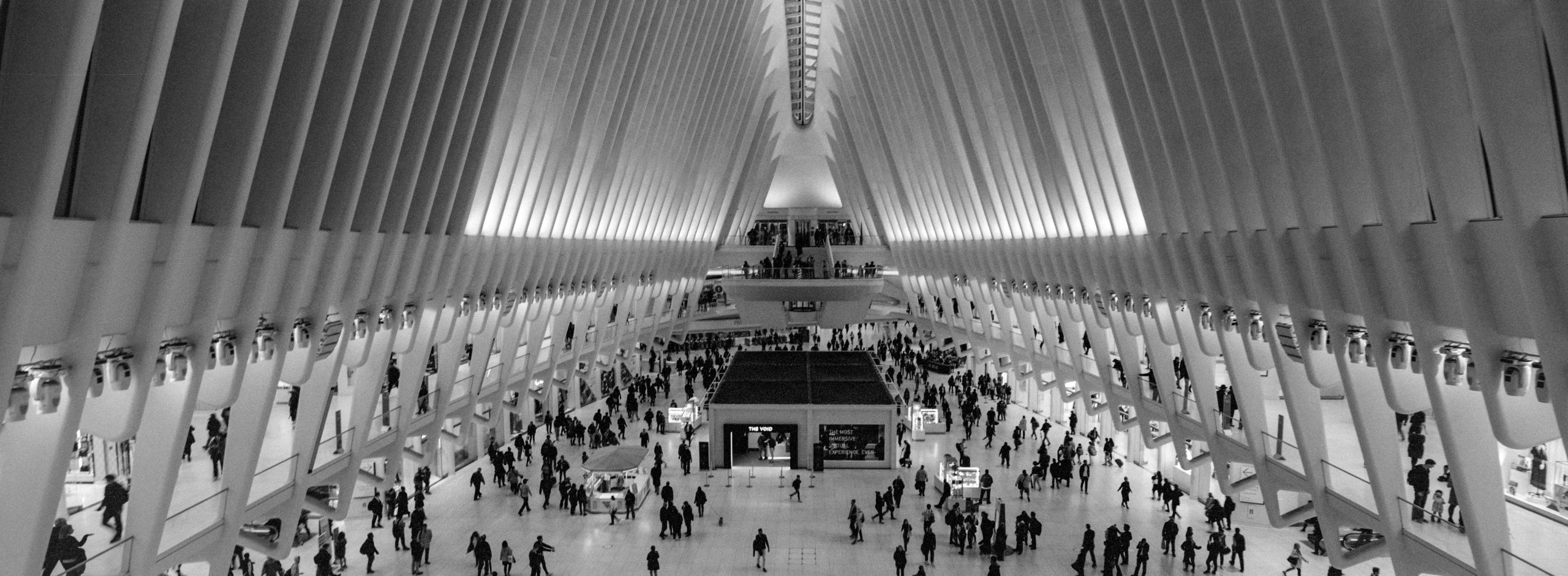 @vphill The Oculus (New York City) Fujifilm TX-1 (xpan) / 30mm f5.6 / Ilford HP5+ #ilfordphoto #fridayfavourites #panoramic