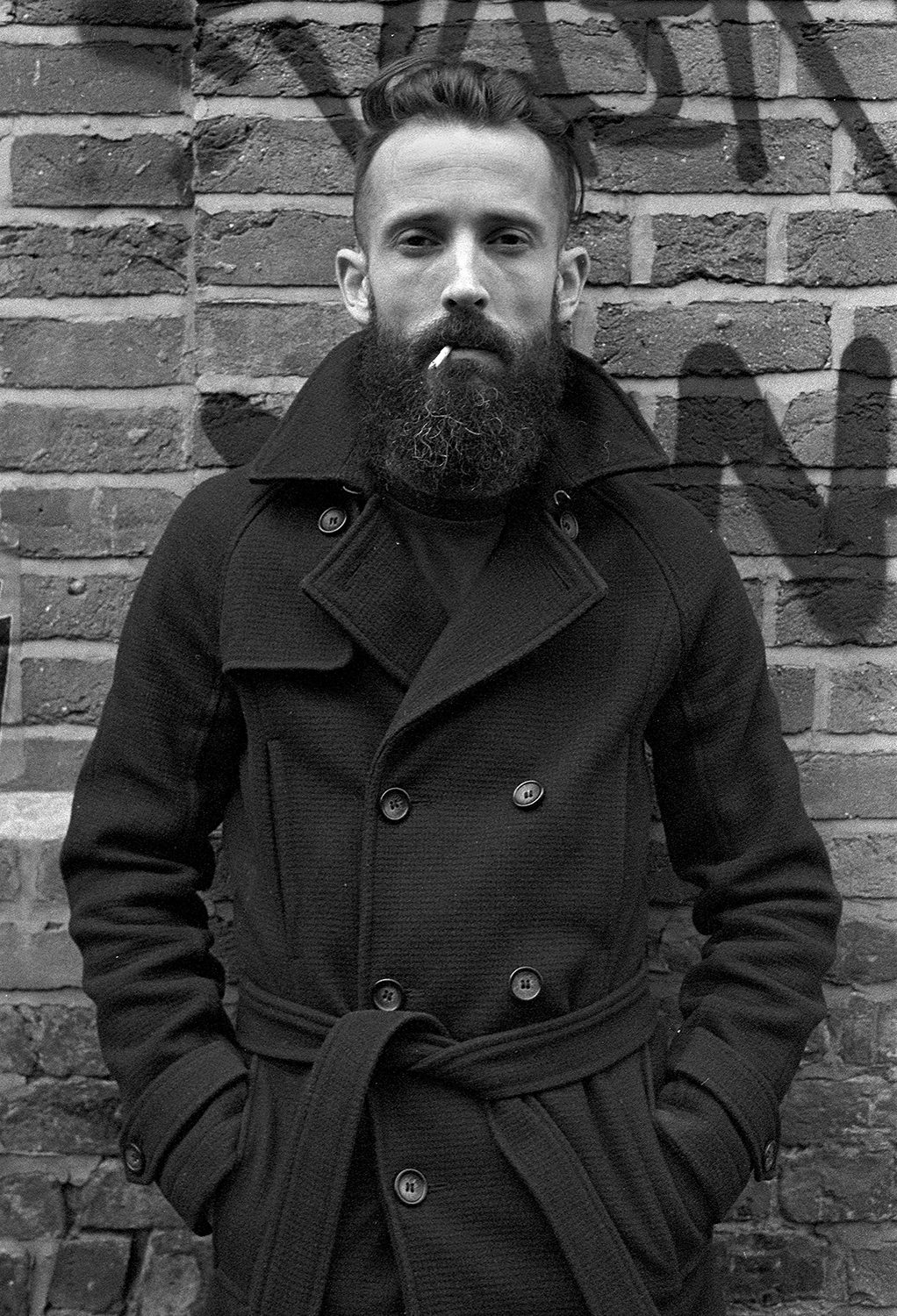 Portrait of a Man with Beard Manchester shot on ILFORD black and white film by Keith Moss