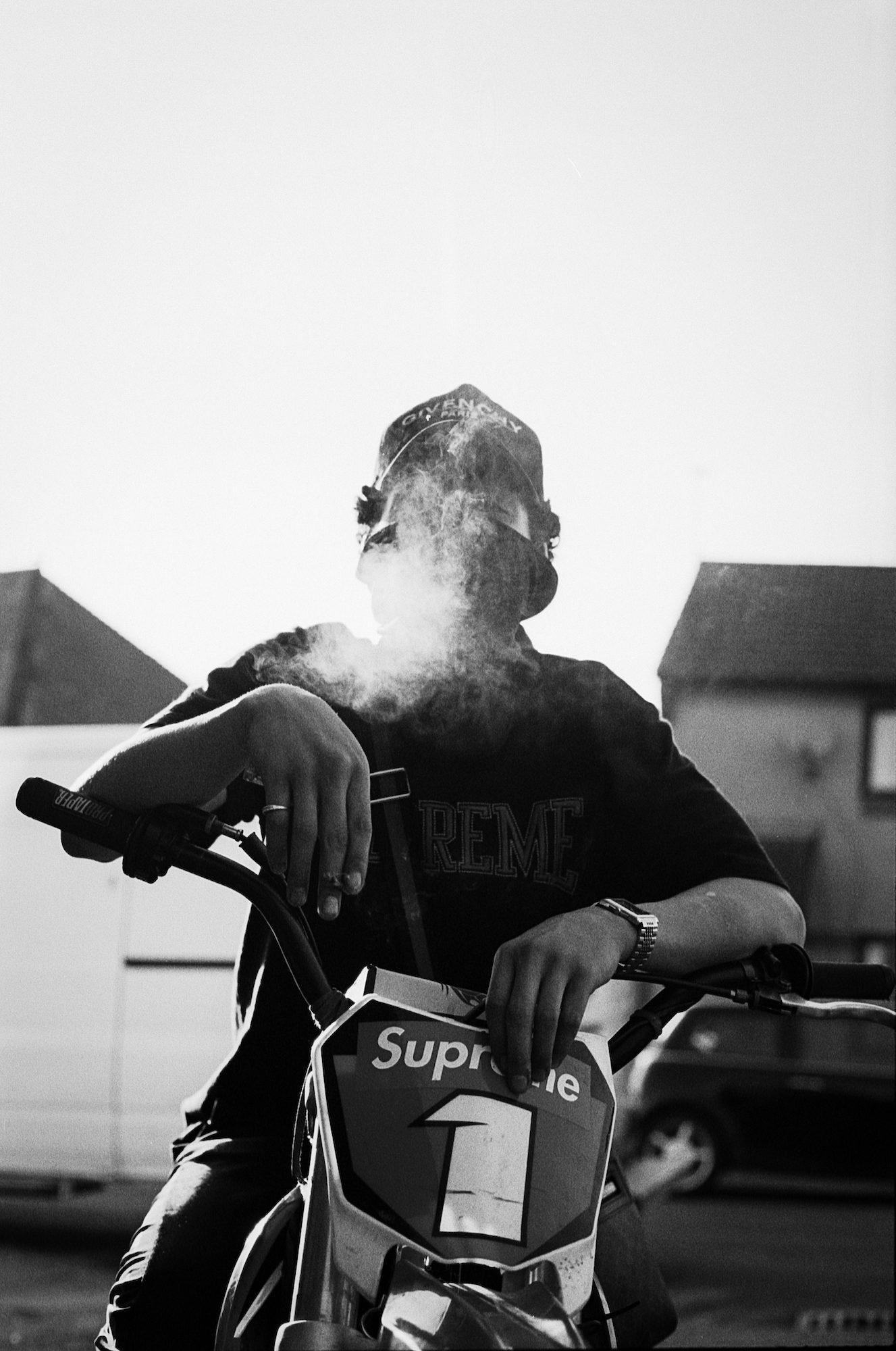 Smoking Biker © Brunel Johnson