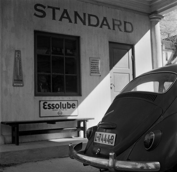 Standard esso Oslo shot on ILFORD black and white film by Keith Moss