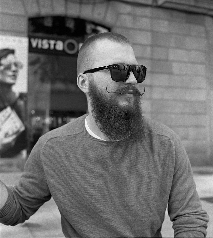 portrait in Barcelona shot on ILFORD black and white film by Keith Moss