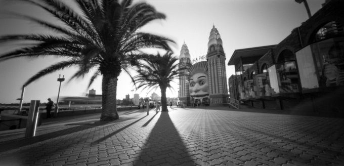 @billthoo Replying to @ILFORDPhoto Luna Park by Sydney Harbour looms large in the memories of 70s kids here. Ondu Pinhole 6x12 Multiformat. FP4 pushed 2 stops. #ilfordphoto #fridayfavourites #sightseeing #fp4 #ondu #6x12 #ilovesydney #lunapark @ONDUpinhole @ILFORDPhoto