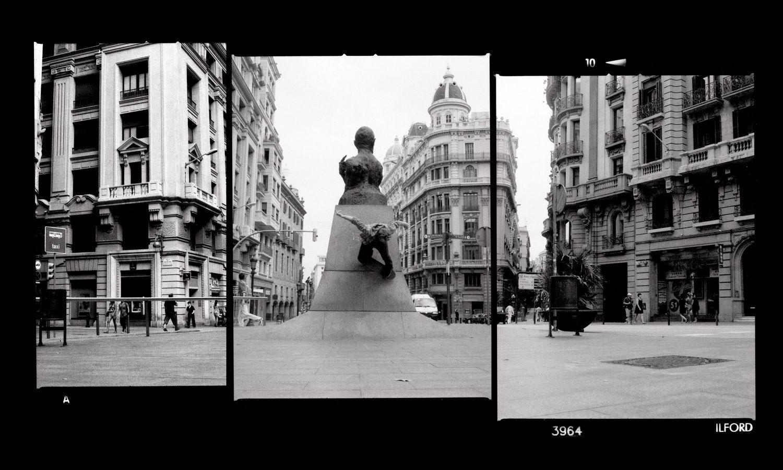 Simon-Wesser-Wallride-triptych-Barcelona,-Spain---Hasselblad-500CM-on-Ilford-Delta-3200-Pro