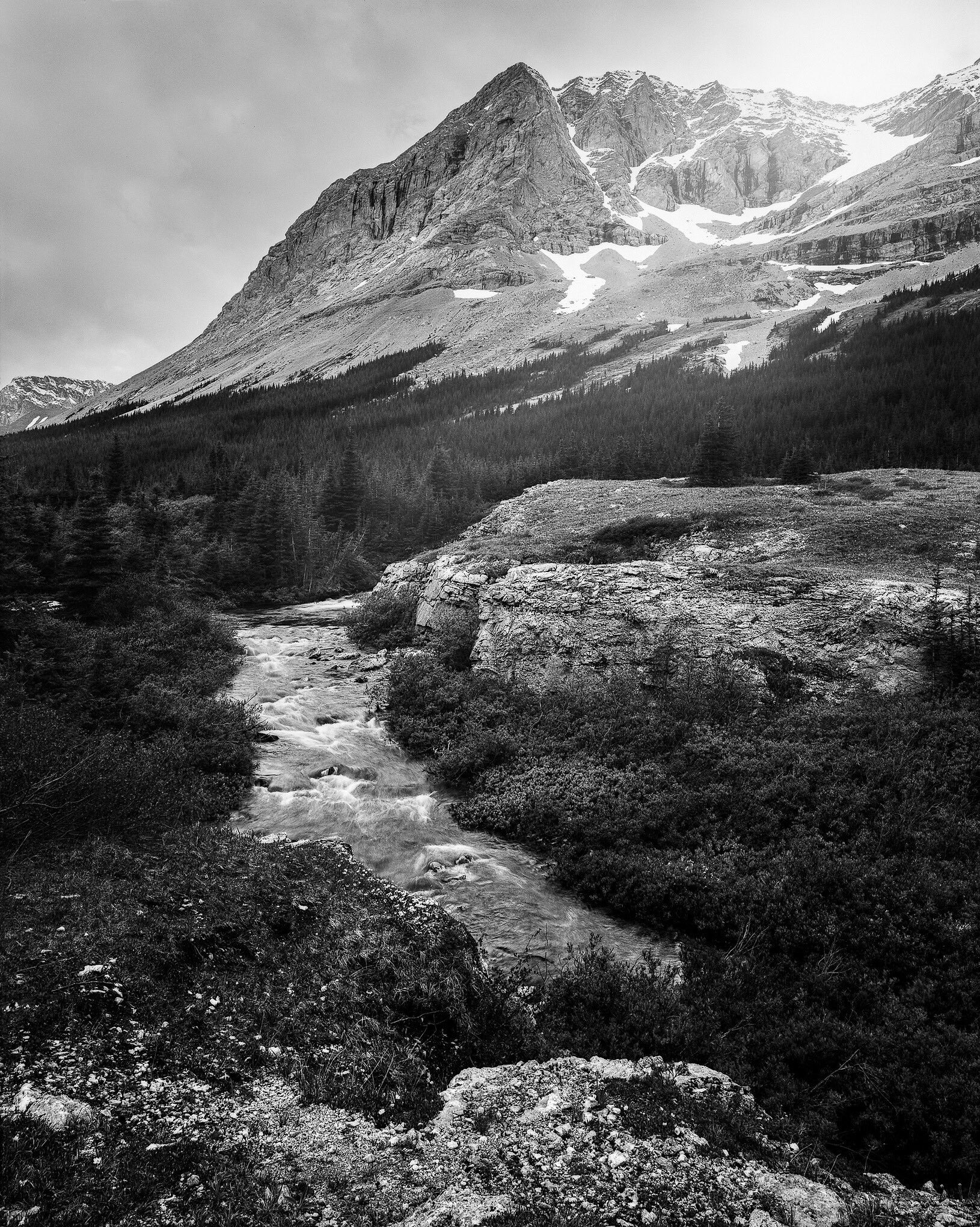 @JeremyCalow · Jan 13 Looking back at my year on @ILFORDPhoto , I'd have to say this was one of my favourite images taken way back in July of 2020! #fridayfavourites #ilfordphoto #bestof2020 #believeinfilm Elbow Valley Terminus Chamonix 45f2 / FP4/ Nikkor 90mm Developed in ID-11 1+1