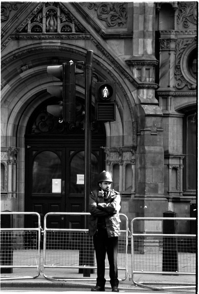 Shot on ILFORD FP4 plus black and white film by Simon King