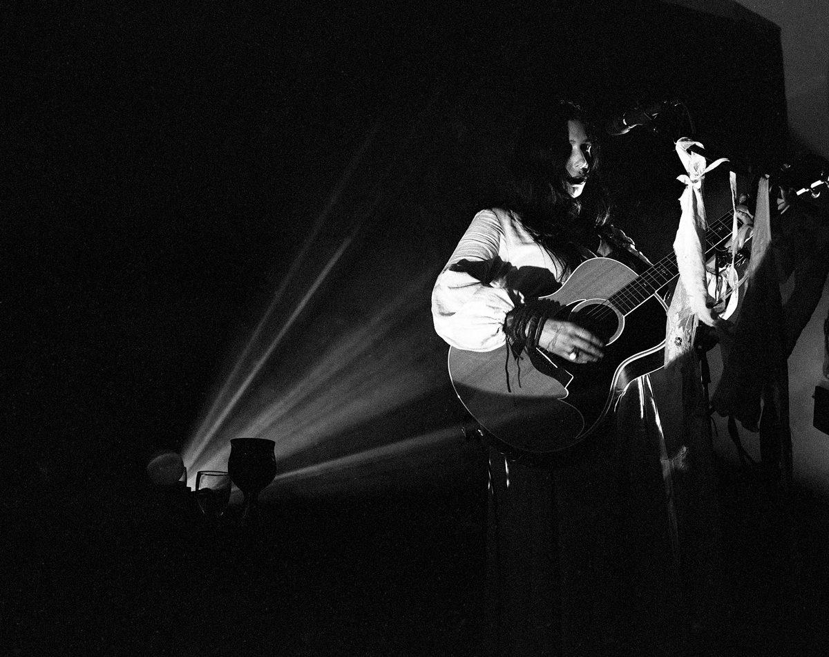 5.Chelsea Wolfe, 2019. The Stanley Hotel, Estes Park, CO. Ilford HP5 @ 3200. Mamiya 7ii/80mm lens. Ilfotec HC.