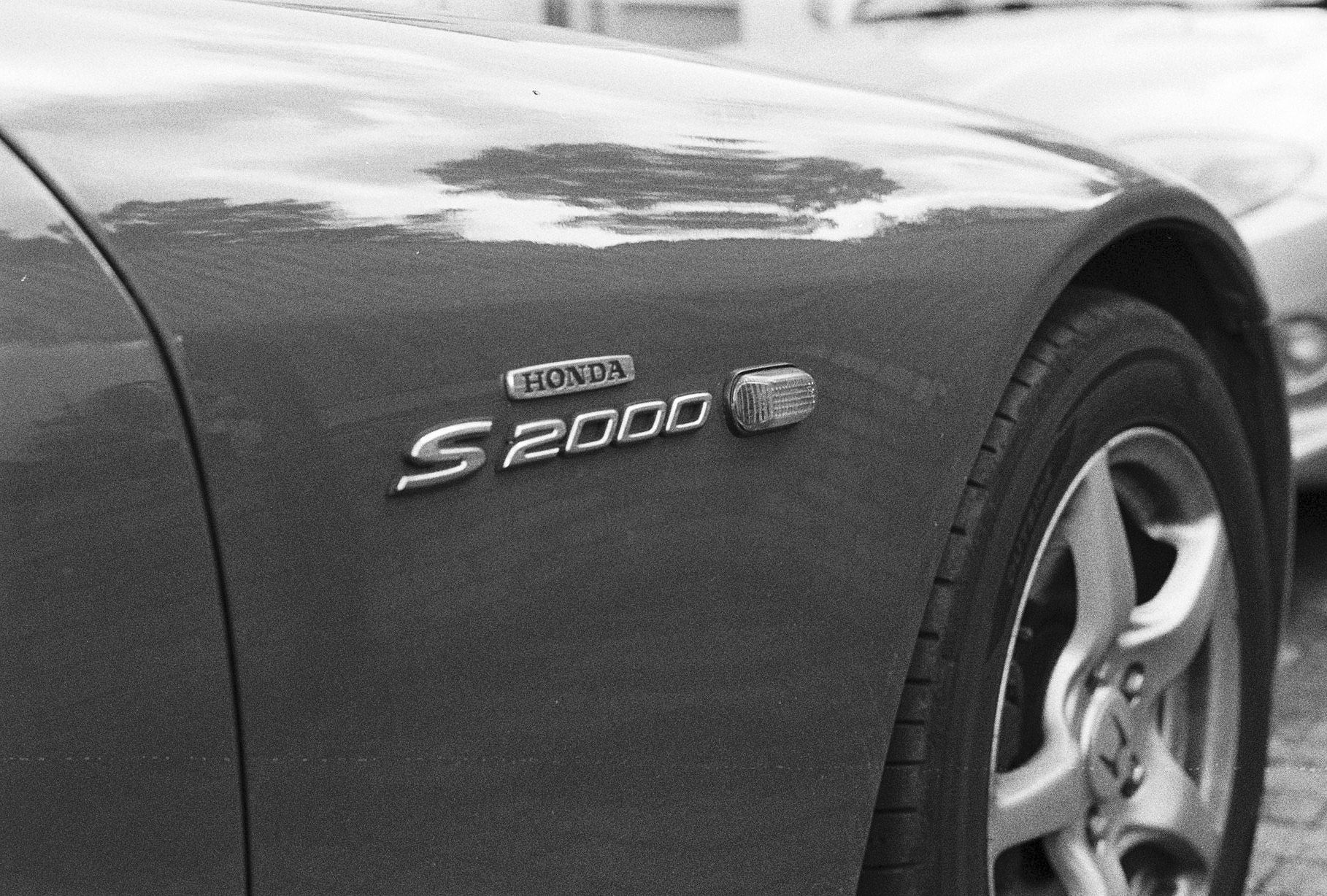 My good friends Honda S2000, a somewhat less rusty car compared to mine – Taken on their drive on HP5+