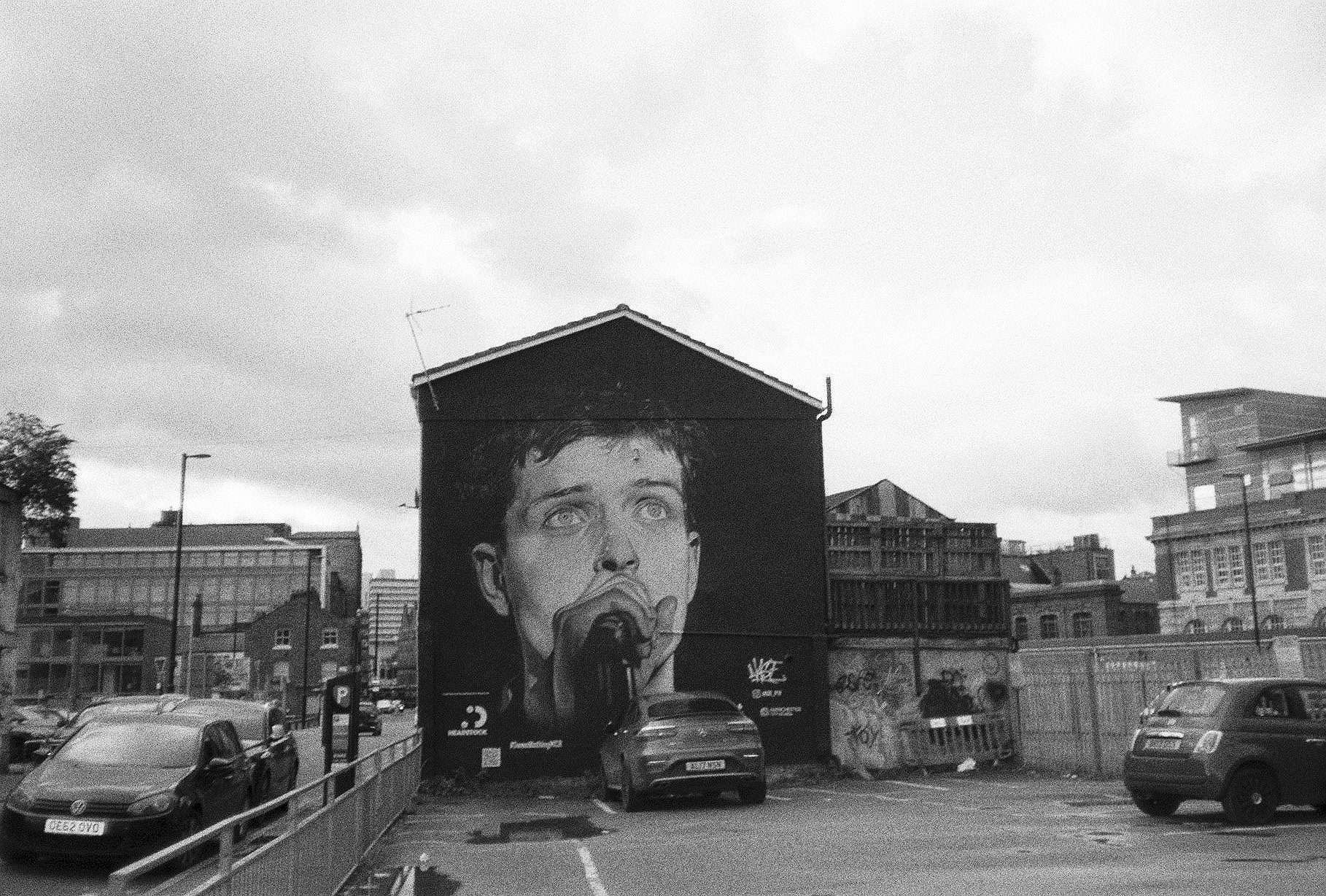 2. Ian Curtis Mural (@akse_p19), Northern Quarter – HP5 Plus, Canon Sureshot AF7s
