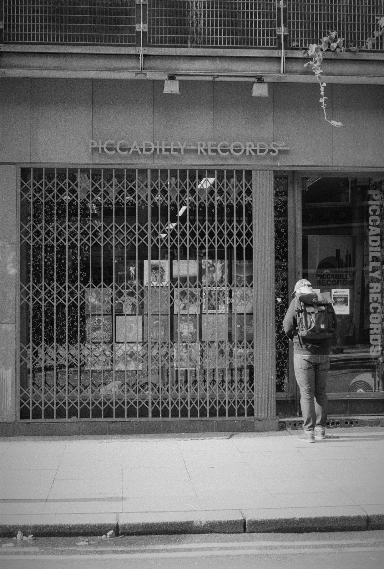 Kentmere 400 of Piccadilly Records in Manchester.