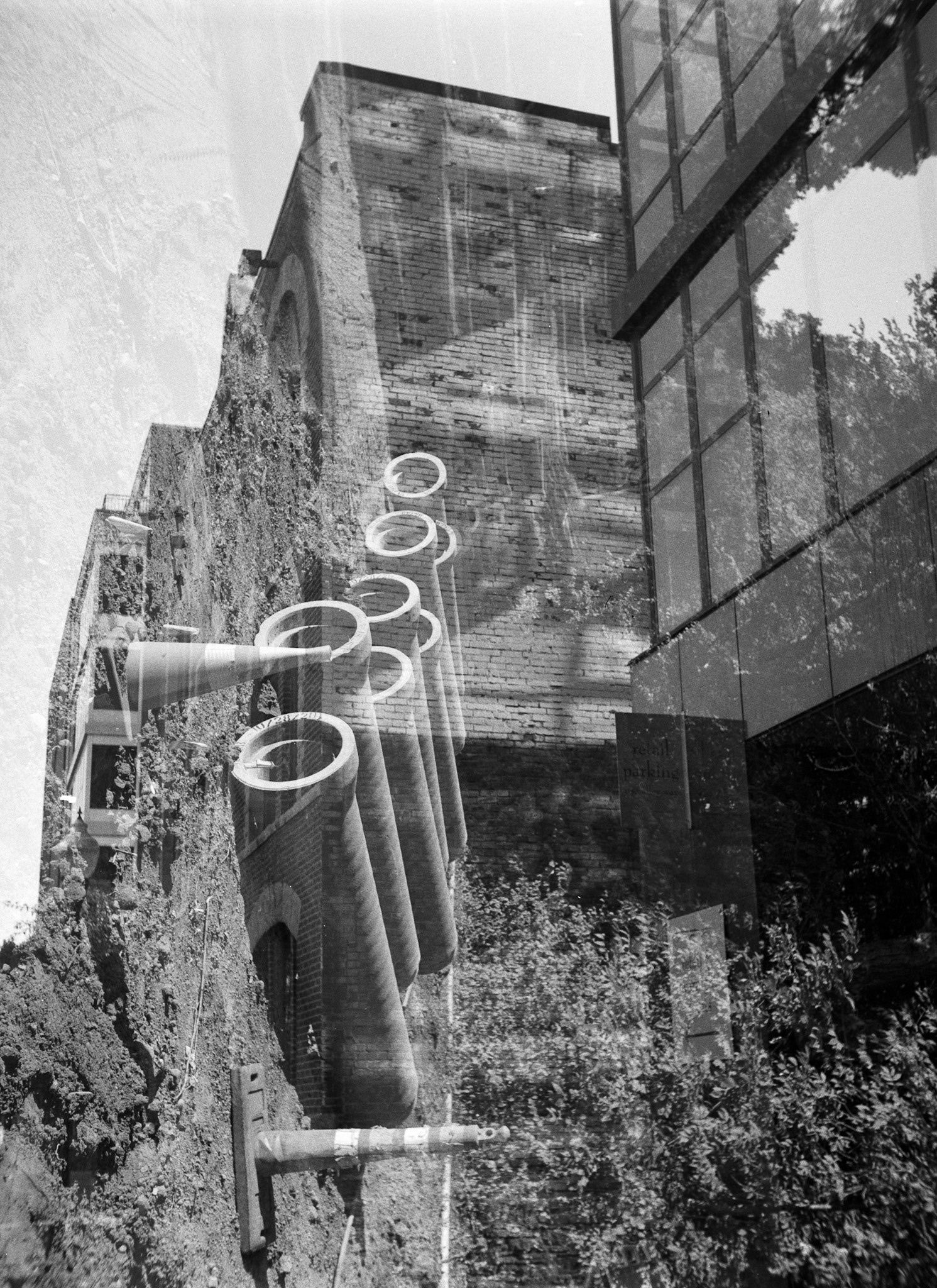 @tomnorthenscold On the first roll through my newly acquired Kodak Duo Six-20 I had issues with film advance and ended up with a number of unintentional double exposures. 🎞Ilford HP5 respooled on a 620 spool. #ilfordphoto #fridayfavourites #doubleexposure