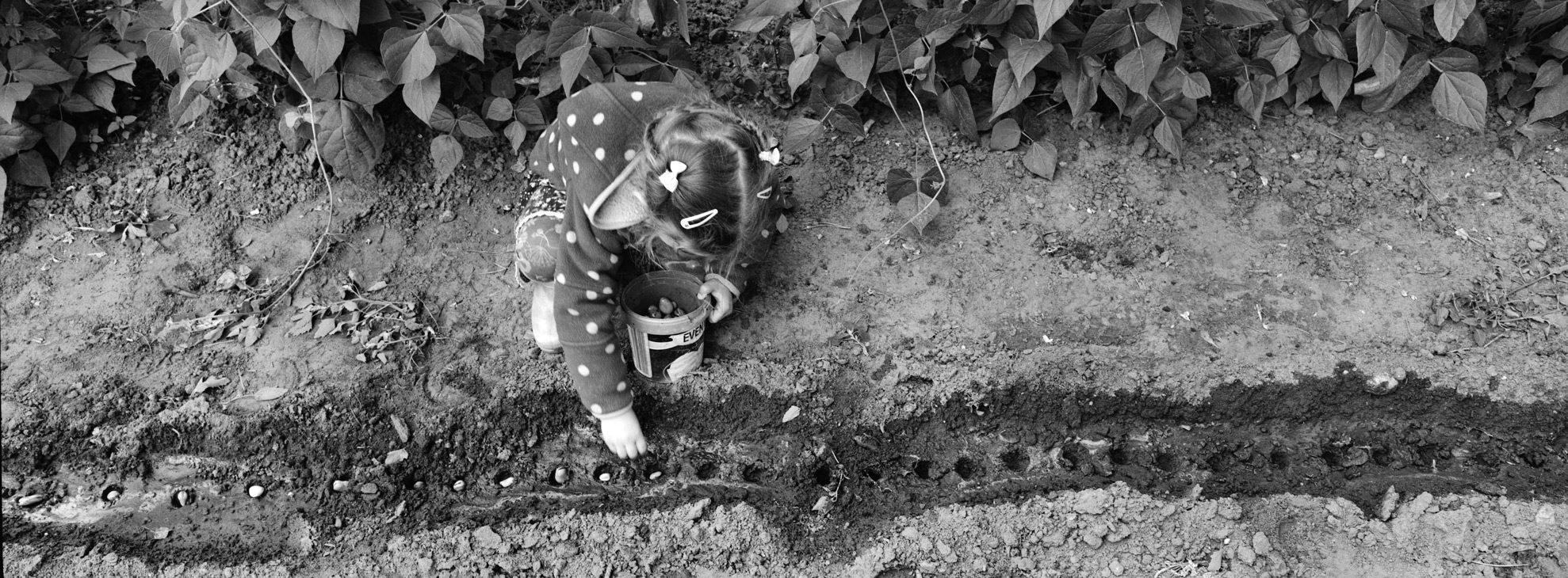 Zosia in the garden, f = 8, exp = 1 / 60s,